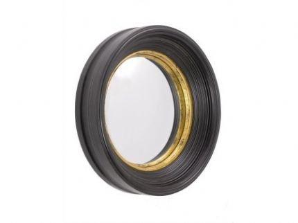 Black Convex Fish Eye Round Porthole Mirror - 40cm