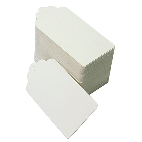 50 st ck rustic 40mmx70mm wei kraft geschenk anh nger papieranh nger tags labels karten zum. Black Bedroom Furniture Sets. Home Design Ideas