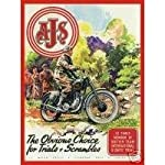 L1803 LARGE A J S THE CLASSIC MOTORBIKE VINTAGE STYLE METAL ADVERTISING WALL SIGN RETRO ART