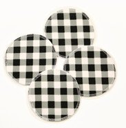 Breast Pads Brand Nursing Bra Pads 4 Pack (2 Pair) Gingham - 1