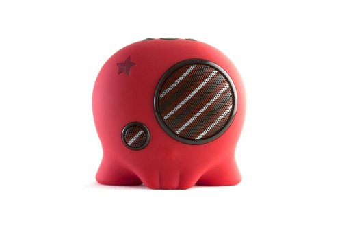 Boombotix Boombot2 Portable Weatherproof Bluetooth Wireless Speaker (Red)