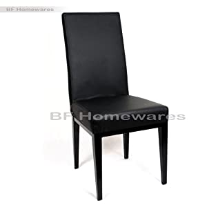 black high back faux leather dining table chairs chair seat furniture