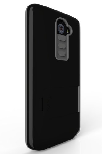 Poetic Invictus Hybrid Case for LG G2 Black/Gray (All Carriers except ) (3 Year Manufacturer Warranty From Poetic)