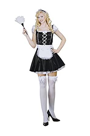 Amazon.com: French Maid Costume, Women's 8-10: Clothing