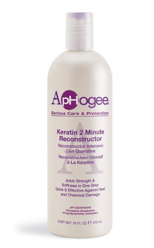 Aphogee Intensive Two Minute Keratin Reconstructor Restores Softness & Elasticity & Repairs Damaged Hair 16Oz/...