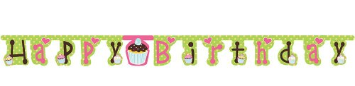 Creative Converting Sweet Treats Jointed Happy Birthday Banner