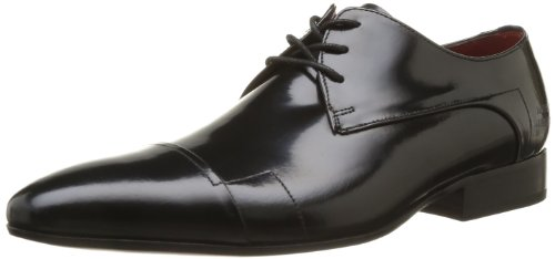 Melvin&Hamilton Mens Paul 11 Oxfords Black Schwarz (Brush Black) Size: 44