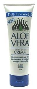 Fruit of the Earth Aloe Vera Cream 8 oz. Tube (3-Pack) with Free Nail File