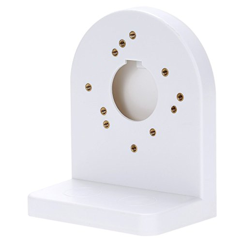 BeElion Outdoor Wall Mount Bracket White Plastic CCTV Security Dome Camera,White (Wall Mount L Bracket compare prices)