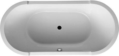 Duravit 700012000000090 Starck 74-3/4in Freestanding Oval Bathtub w/Panel & Support Frame White