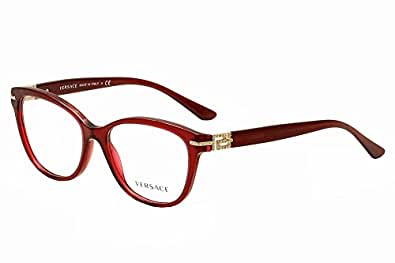 71a85d0a2c0 www.lesbauxdeprovence.com Versace Eyeglasses VE3205B 388 Bordeaux  Transparent 54 16 140  Shoes