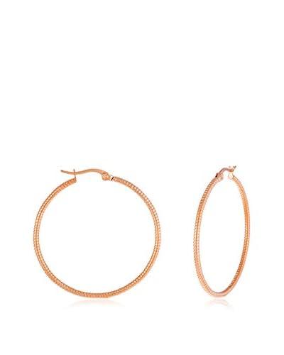 Bliss Diamond Cut Rose Gold 40mm Hoop Earrings As You See