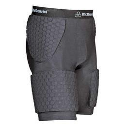 McDavid Women's Hexpad Thudd Short with Extended Hexpad Thigh Guard Sewn In (Black, Large)