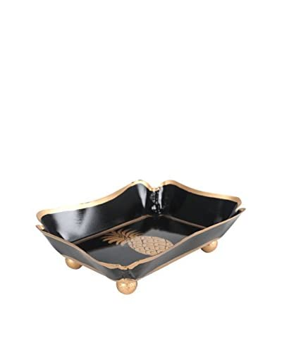 Jayes Pineapple Trinket Tray, Black/Gold