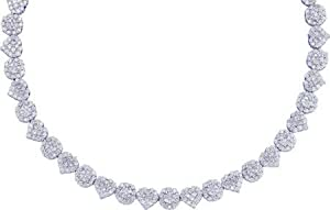 Gold and Diamonds FONPR703-W 7.50CT ROUND DIAMOND FASH NECKLACE- Size 7