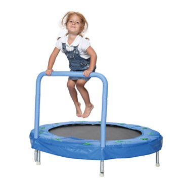 "Discover Bargain Bazoongi 48"" Bouncer Trampoline with Handle Bar"