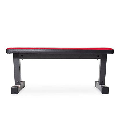 Cap Barbell Memory Foam Flat Bench Black Red Sporting Goods Exercise Fitness Weight Benches