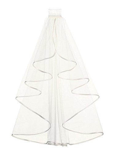Fashionbride Women's 2-tiers Wedding Veils 32