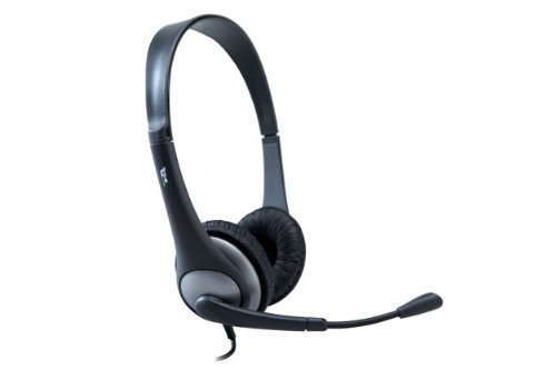 Cyber Acoustics Ac-204 Stereo Headset And Boom Mic With Pc Y-Adapter
