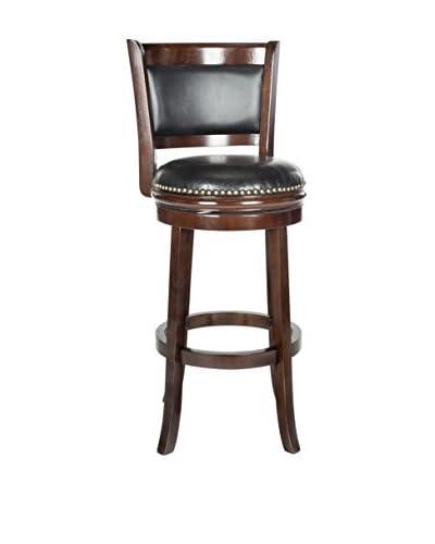 Safavieh Brockway Bar Stool, Cappuccino/Black