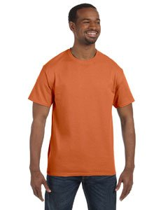 Gildan Men's Heavy Cotton T-Shirt (Sunset) (Large)