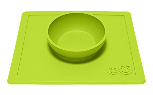 ezpz-Happy-Bowl-One-piece-silicone-placemat-bowl-Lime
