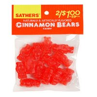 A small package of 'Cinnamon Bears' candy