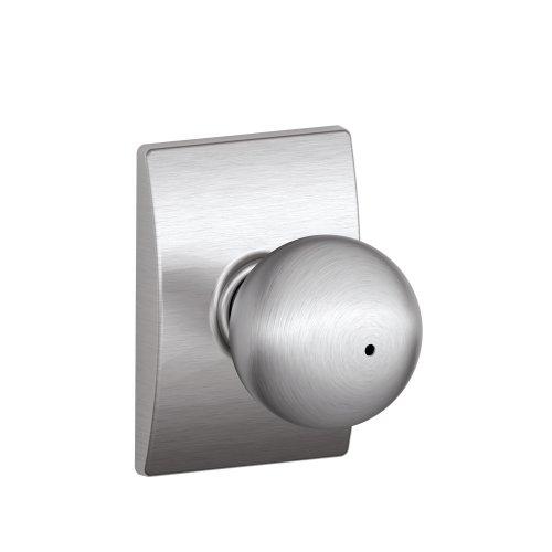 Schlage F40Orb626Cen Century Collection Orbit Privacy Knob, Satin Chrome