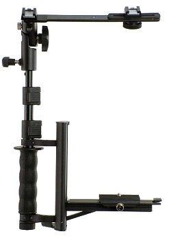 Alzo Camera Bracket Flip Flash with Tilting Flash Umbrella Mount H-Bar (Black)