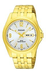 Pulsar 3-Hand with Day/Date Gold-tone Men's watch #PV3004