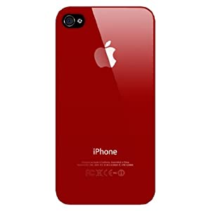 Red Replicase Hard Crystal Air Jacket Case iPhone 4 4G 16GB 32GB