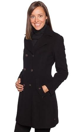 pin boss orange damen mantel odoro schwarz schwarz on. Black Bedroom Furniture Sets. Home Design Ideas