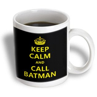 3Drose Keep Calm And Call Batman Ceramic Mug, 11-Ounce