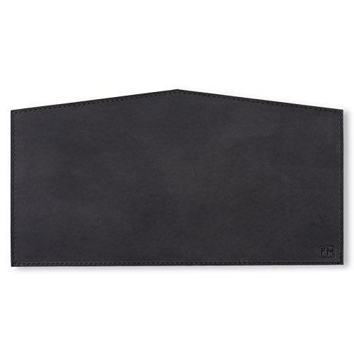100% Full Grain Black Leather Keyboard Pad - Made in USA