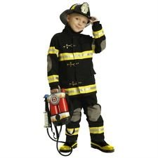 TEETOT Boys Halloween FIRE FIGHTER BLACK Costume SZ 5-6 Fireman