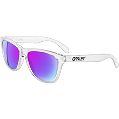 Oakley Frogskins Men's Limited Collector Editions Designer Sunglasses - Polished Clear/Violet Iridium / One Size Fits All