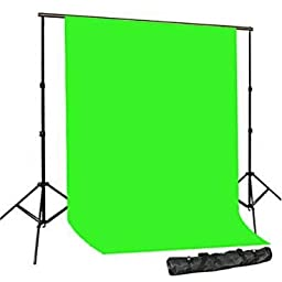 PBL Backdrop Background Support System Portable Compact Carry Bag Chromakey Green Photo Video Backdrop Extra Thick