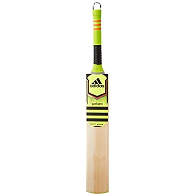 adidas Pellara Rookie Kashmir-Willow Cricket Bat, Short Handle (Stelo/Red/Black)