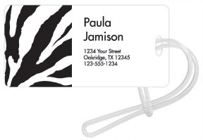 Checks In The Mail - Zebra Luggage Tags