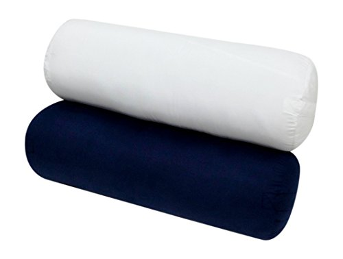 High Quality-Yoga Bolster - 28L X 10 - Supportive Round-Navy - Exclusively By Blowout Bedding Rn# 142035 front-739203
