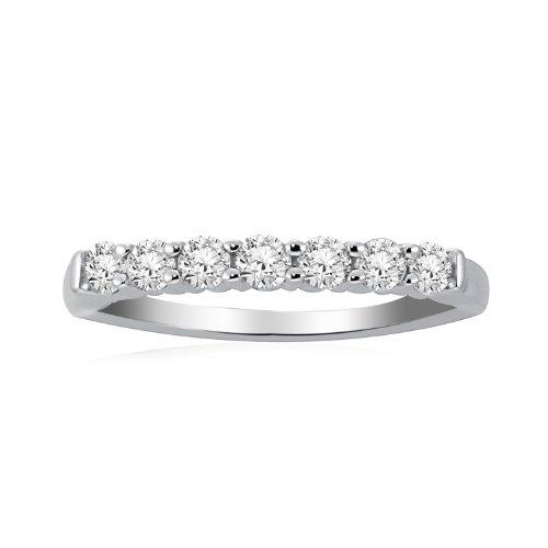 Women's 14k White Gold Ring (1/4 cttw, I-J Color,I1-I2 Clarity), Size 5