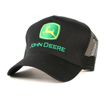 John Deere Trucker Hat Black