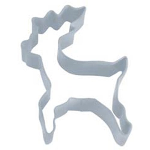 Dress My Cupcake DMC41CC0720 Reindeer Standing Stainless Steel Cookie Cutter, 4-Inch