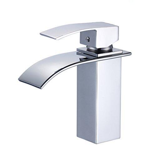 Auralum® Design Einhebel Wasserhahn, Wasserfall Armatur