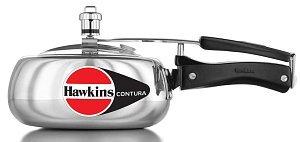 Hawkins HC20 Contura 2-Liter Pressure Cooker, Small, Silver