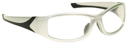 Silver Wrap Around Radiation Leaded Protective Eyewear (Leaded Protective Eyewear compare prices)