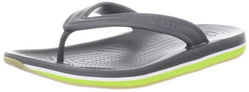 Crocs - - Unisex Retro Flip-Flop-Schuhe, EUR: 36.5, Graphite/Volt Green