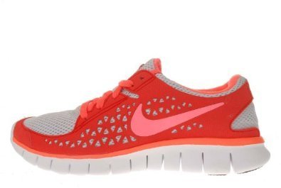 Nike Womens Free Run Running Shoes 395914 086 Sz 9 5 Pure Platinum Bright  Mango