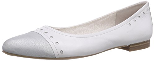 Caprice 22114, Ballerine chiuse donna, Bianco (Weiß (WHITE/100)), 40