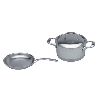 Atlantis 7-Ply Stainless Steel 3-Piece Cookware Set
